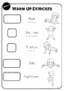 PE Warm Up Exercise Cards