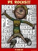 "PE Word Art Poster: ""PE Rocks!"""
