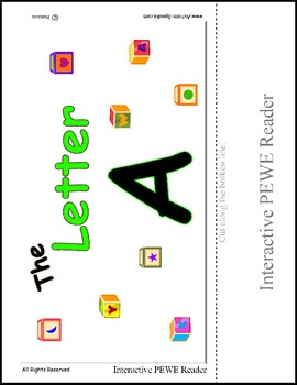 PECS Style Interactive PEWE Reader for the Letter A - Read