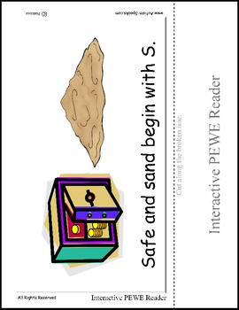PECS Style Interactive PEWE Reader for the Letter S -  Rea
