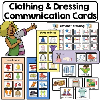 PECS Clothing and Dressing Communication Cards. Life Skill