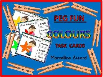 COLOURS TASK CARDS: COLOURS CLIP CARDS