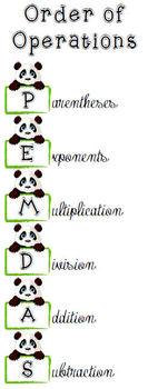 PEMDAS Order of Operations Bookmarks