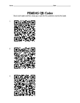 PEMDAS QR Code Activity