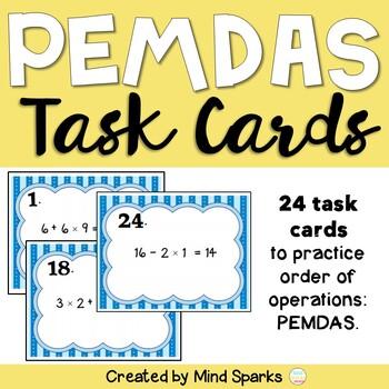 PEMDAS Task Cards