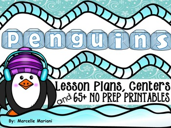 PENGUINS- literacy, math, science, and art fun- PENGUINS M