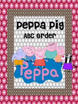PEPPA PIG ABC ORDER back to school