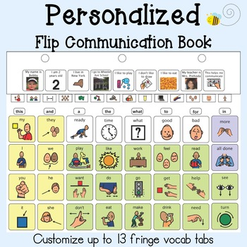 PERSONALIZED AAC Flip Communication Book