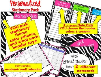 PERSONALIZED Teacher Stationery Resources - Say it with STYLE!