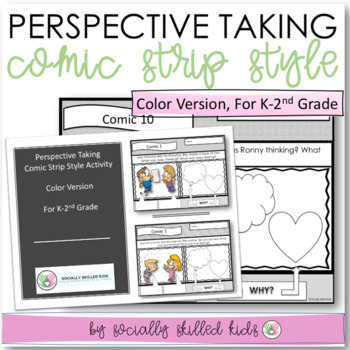PERSPECTIVE TAKING~ Comic Strip Activity {For k-2nd Grade