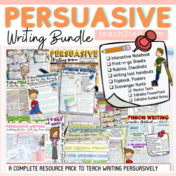 OPINION/PERSUASIVE WRITING INTERACTIVE NOTEBOOK