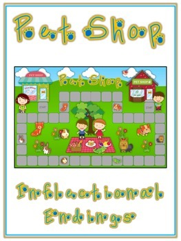 PET SHOP Inflectional Word Endings - ELA First Grade Game