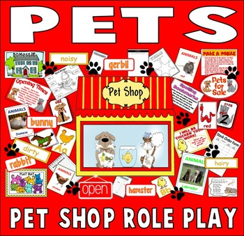PET SHOP ROLE PLAY TEACHING RESOURCES EYFS KS 1-2 SCIENCE
