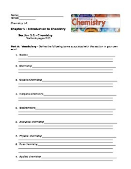PH Chemistry Reading Guides - Chapter 1 - section 1