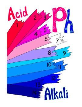 PH Worksheet Poster Print Litmus Paper Chemistry PDF Printable