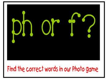 PH or F? Harcourt Journeys : 1st Grade file folder game