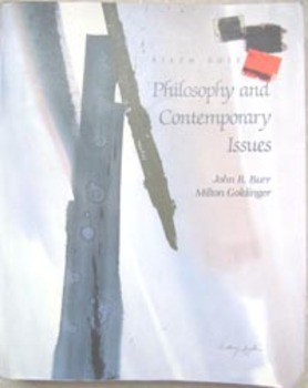 TEXTBOOK PHILOSOPHY AND CONTEMPORARY ISSUES Burr & Golding