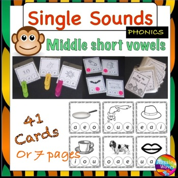 PHONICS or SOUNDS ACTIVITY CARDS for centers Short, Middle