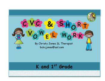 PHONICS - CVC and SHORT VOWEL WORK