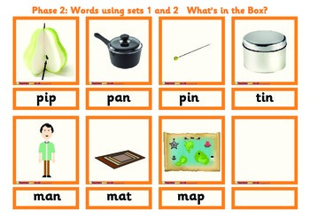PHONICS GAME - WHAT'S IN THE BOX