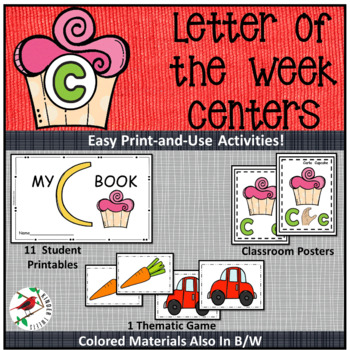 PHONICS LETTER OF THE WEEK C LITERACY CENTERS