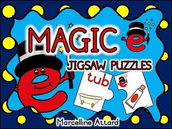 CVCe (MAGIC E) PUZZLES: LONG VOWELS CENTER: CVC+E PHONICS