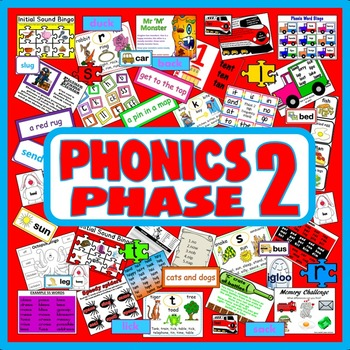 PHONICS PHASE 2 TEACHING RESOURCES EYFS KS 1 LETTERS SOUND