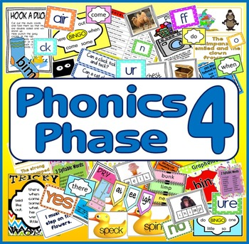 PHONICS PHASE 4 TEACHING RESOURCES LETTERS SOUNDS Key stage 1-2