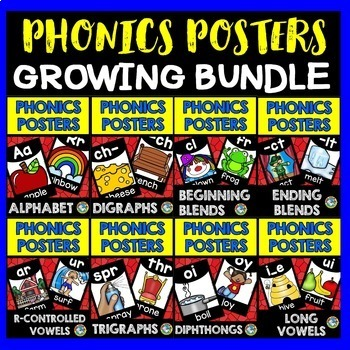 PHONICS POSTERS BUNDLE: BACK TO SCHOOL POSTERS: CLASSROOM DECOR