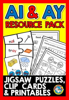 VOWEL TEAMS ACTIVITIES: AI AND AY VOWEL TEAM PRINTABLES +