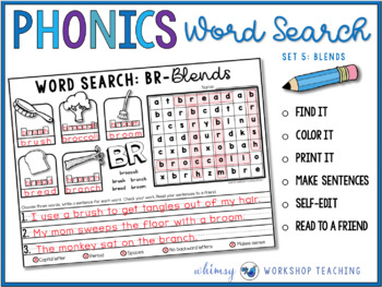PHONICS Word Search and Write 5 (Blends)