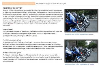 PHOTOGRAPHY ASSIGNMENT Depth of Field - Focal Length