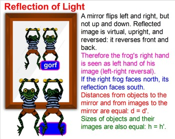 PHYSICS: OPTICS: Properties of Light: Reflection Refractio