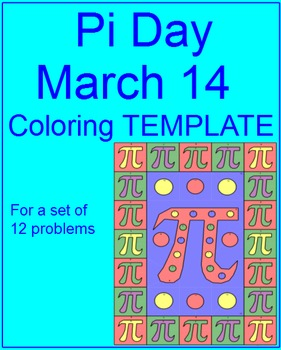 PI Day - Coloring Template (For Personal Use Only) FREE in