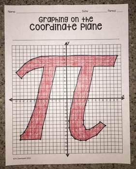 PI (Graphing on the Coordinate Plane Mystery Picture)