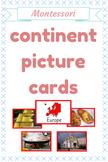 PICTURE CONTINENT MONTESSORI CARDS