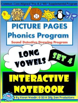 PICTURE PAGES Phonics Program INTERACTIVE NOTEBOOK Set 4 L