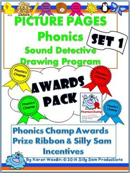 PICTURE PAGES Phonics Program Set 1 AWARDS PACK