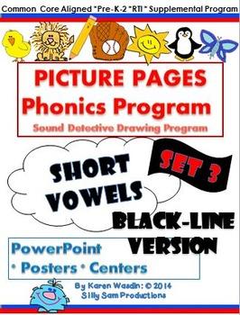 PICTURE PAGES Phonics Program Set 3 SHORT VOWELS: BLACK-LI