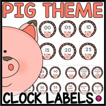 PIG THEME CLOCK SET to teach TELLING TIME