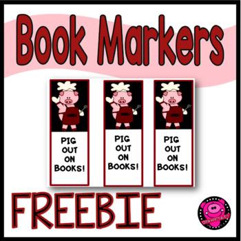 PIG BOOK MARKERS/ FREEBIE