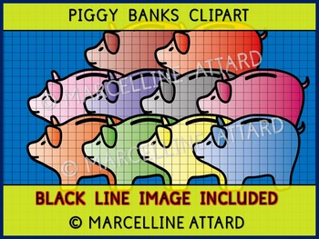 PIGGY BANKS CLIPART: GREAT TO COMBINE WITH OTHER MONEY CLI