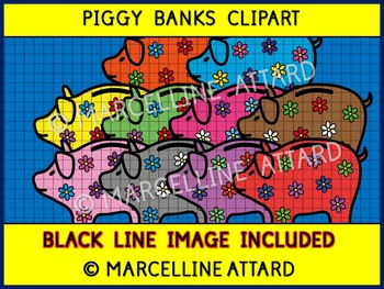 MATH CLIP ART: PIGGY BANKS CLIPART: GREAT ADDITION TO MONE