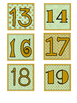 PINTEREST INSPIRED CALENDAR NUMBERS- FREE