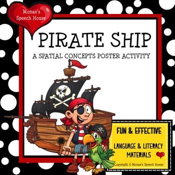 PIRATE SHIP POSTER SPEECH ACTIVITY