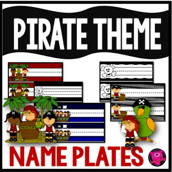 PIRATES NAME PLATES and DESK PLATES