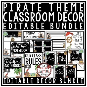 Pirate Classroom Decor  • Pirate Theme
