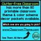 FAIRY TALE THEME Decor - 3 EDITABLE Clutter-Free Classroom