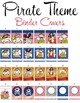 PIRATES - Binder Covers, EDITABLE so you can personalize