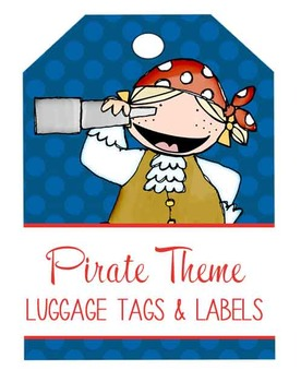PIRATES - Labels, MS Word, editable / Luggage Tags